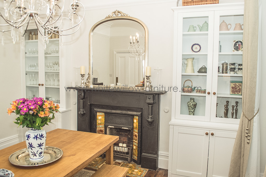Bespoke alcove cupboards and shelving | White Willow Furniture