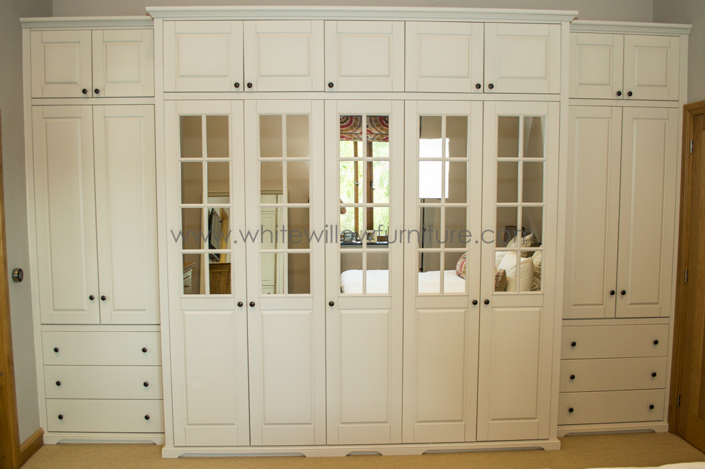 Solid Ash Three Door Wardrobe with Top Box Doors & Bespoke fitted bedroom wardrobes and Design from White Willow ... pezcame.com