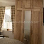 Solid Ash Three Door Wardrobe with Top Box Doors