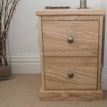 Freestanding Solid Ash Bedside Cabinet