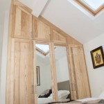 Solid Ash Sloping Wardrobe