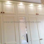 Shaker Style Wardrobes with Box Tops and Downlighting