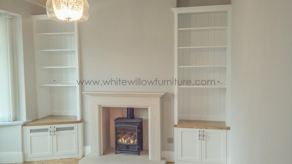 Lounge Alcove Cupboards And Shelving White Willow Furniture