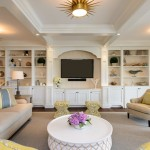Traditional Family Room Wall Unit