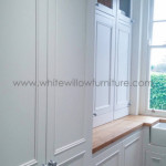 Bespoke Kitchen Custom Made Traditional Style Furniture- Utility Room, Cyncoed, Cardiff, White Willow Furniture
