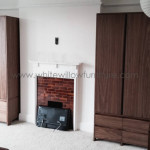 Bespoke Dark American Walnut Wardrobes Custom Made White Willow Furniture Pontcanna Cardiff