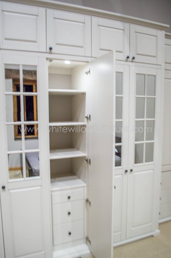 Mirrored Bespoke Traditional Wardrobes White Willow Furniture Monmouth