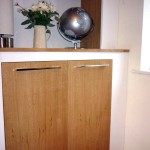 White Willow Furniture Bespoke alcove unit and shelving with oak trim and sprayed finish www.whitewillowfurniture.com