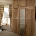 Solid Ash Three Door Wardrobe with Top Box Doors