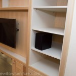 Bespoke TV Cabinet with Internal White Shelving