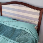 Custom made upholstered headboard White Willow Furniture