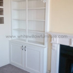 Custom Made Alcoves with built in TV Area by White Willow Furniture installed in Penarth South Wales
