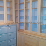A bespoke homeoffice incorporating 3 existing filing cabinets, White Willow Furniture, Barry, South Wales