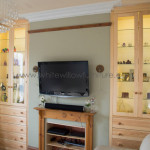3 metre high fitted cabinets made out of A-Grade Scandinavian Redwood, White Willow Furniture, Penarth South Wales